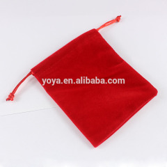 BP0706 Fashion Red Bracelet Jewelry Velvet Pouches Gift Bags, Drawstring Gift Bag Pouches
