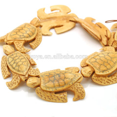 OB004 Realistic detail Carved Ox Bone turtle Tortoise Pendant