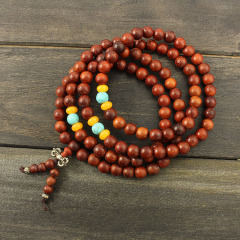 PBB1032 Hotsale 108PCS Red Rosewood Prayer Beads Necklace,Rare