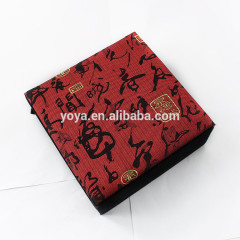 BP1010 Fashion Chinese style design red paper and velvet bracelet packing box,jewelry gift cardboard