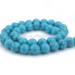 TB0005 Hot sale Wholesale blue stabilized turquoise round beads