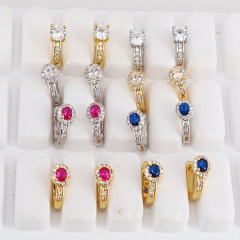 Chic cubic zirconia micro pave earrings CZ Micro Pave LatchBack Earring Wires Hooks, Leverback Huggie ear wire,