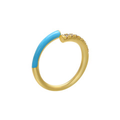 RM1140 new arrival fashion enamel copper women ring with enameled