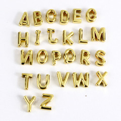 JS1511 High Quality Small Thin Mini 18k Gold Plated Small Alphabet Initial letter charm pendant