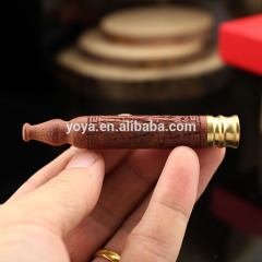 160101 75mm long Classic styling, cigarette gift,Carved sanders Wood smoke pipe