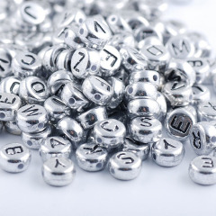 SB6262 plastic acrylic letter initial 4*7mm 500g A to Z 26 alphabet beads for jewelry DIY