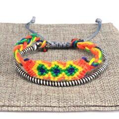 2 layers estival cotton thread macrame bracelet patterns for men women