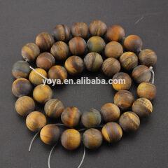 SB6508 Hotsale frosted matte tiger eye beads