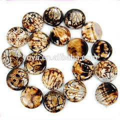 AB0043 Hot Sell Coffee Agate Coin Beads,Brown Agate Coin Beads