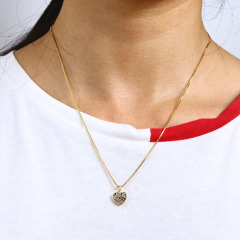 NZ1112 Dainty Mini CZ Micro Pave Charm Necklace 18k Gold Minimal Women Jewelry Diamond Star Heart lock Pendant Chain Necklace,
