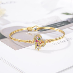 BA1034 18k Gold Plated Diamond  Star Moon Heart Bracelet For Women