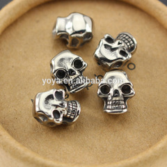 JFA1056 Mens Gothic Cool silver colour stainless steel skull beads