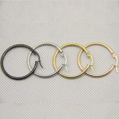 ES1020 12-25mm High Quality Gold Plated Stainless Steel Circle Hoop Earrings