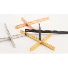 CZ Micro Diamond Pave Big Cross Charm Pendants,Cubic Zirconia Inlaid Bailed Copper Christian Cross Jewelry Supplies Pendant