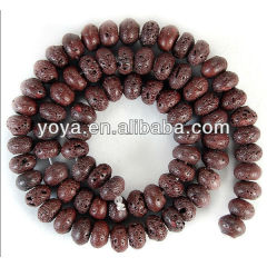 LB1015 Coffee brown lava rondelle beads,Lava Rock abacus Beads,lava loose beads