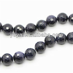 GS4002 Faceted Goldstone Beads,Blue Sand Stone Beads