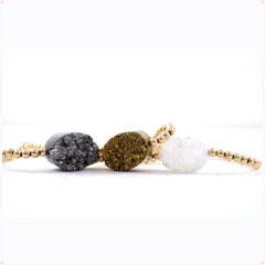 BRH1210 Hot Sale Small Beaded Druzy Bracelet