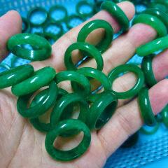 RN1039 green jade ring for women
