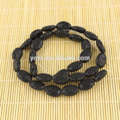 LB1021 lava volcanic flat oval beads,Lava Rock abacus Beads,lava loose beads