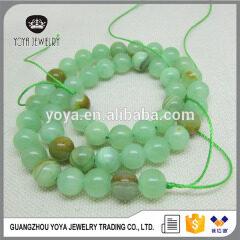 AB0350 Natural green jade beads,round jade stone bracelet beads wholesale