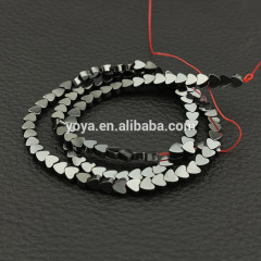 HB3006 Hematite Heart Beads,Flat Heart Shaped Beads