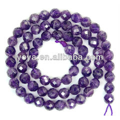 CR5043 Faceted Amethyst Beads,Natural Amethyst Stone,Loose Beads