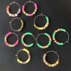 2019 Latest Charming Heishi Beads Earrings Earrings Designs For Girl Women,Fashion Handmade Big Hoop Stud Earrings Jewelry