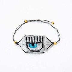BG1026 Handmade Miyuki Seed Beads Couples Bracelet Woven Good Luck Vintage Evil Turkish Eye Adjustable Amulet Charms Bracelet