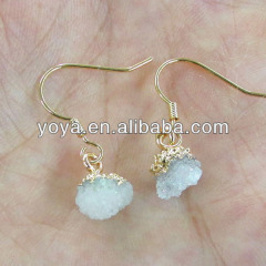 EA3159 2014 Fashion quartz crystal druzy earring