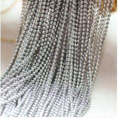 BC1104D Silver Plated Ball Chain,Metal Round Ball Chain