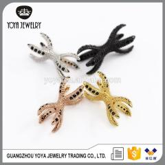 CZ6884 wholesale cz jewelry findings,cz micro connectors dragon's claw charm bracelet for gift