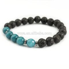 BN1084 Natural gemstone elastic women bracelet,fashion jewelry stone bead essential oil ladies bracelet