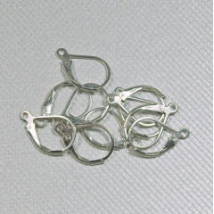 JF9217 Sterling Silver French Lever Back Leverback Ear Hooks Earwire,clip earring findings
