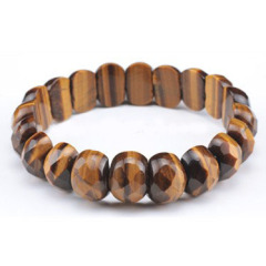 BR1017 Spring Gift,2016 Gif,Tiger Eye faceted stone Bangle
