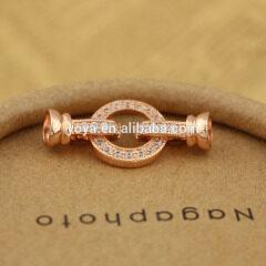 CZ6527 Wholesale cz micro pave ring bracelet charm clasps