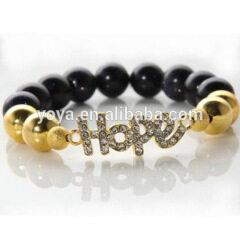 BRL1022 Hot Sale Hope Bracelet,Crystal Pave Hope Charm Bracelet