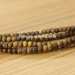 OB001-4 Smooth Light Brown Colored Ox Bone Round / Rondelle Beads