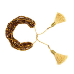 BG1019 Dainty Handmade Miyuki Seed Beaded Cross Heart Macrame Stack Bracelets