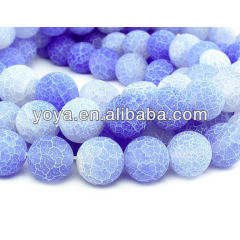 AB0165 Blue fire agate beads,matte frosted agate beads
