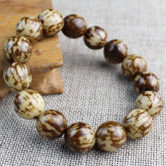 BW1053 Cheap Buddhism Meditation Natural Flower Tiger Spot Bodhi Seed Beads Wrist Mala Amulet Bracelet