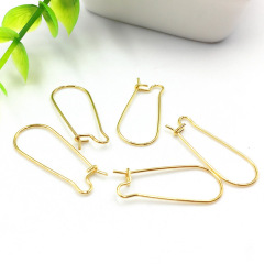 S1069 Earring Findings Gold Plated Stainless Steel U shape Earring Hook with Ball ,Gold Earwires