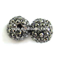 CP5007 Hematite Crystal Pave Alloy Beads,Hematite Pave Crystal Disco Ball Beads
