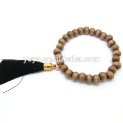 BRH0926 Fashion wooden beaded tassel bracelet,wood beads bracelet with tassel
