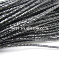 ST1026 Black genuine braided leather cords
