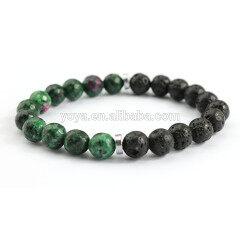BN1088 charm gemstone bead elastic bracelet ,fashion stone bead essential oil ladies stretch bracelet
