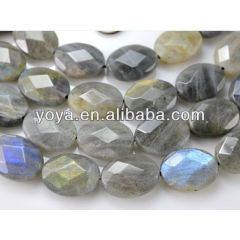 LA5008 Faceted Labradorite Oval Beads