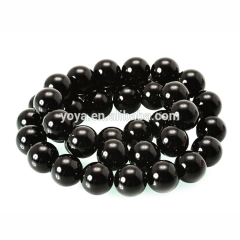 AB0001 4mm,6mm,8mm.10mm A grade Smooth Round Black Agate Onyx Beads, Agate Stone Beads for Jewellery Making