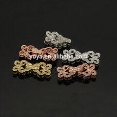CZ6495 Wholesale cz micro pave flower bracelet charm clasps