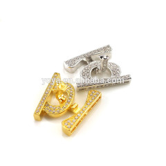 CZ6624 cz micro pave clasps ,Cubic zirconia findings