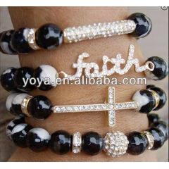 BR0519 Faith Bracelet,Bar Bracelet,Cross Bracelet